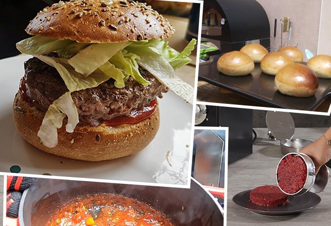 Hamburger 100 % maison